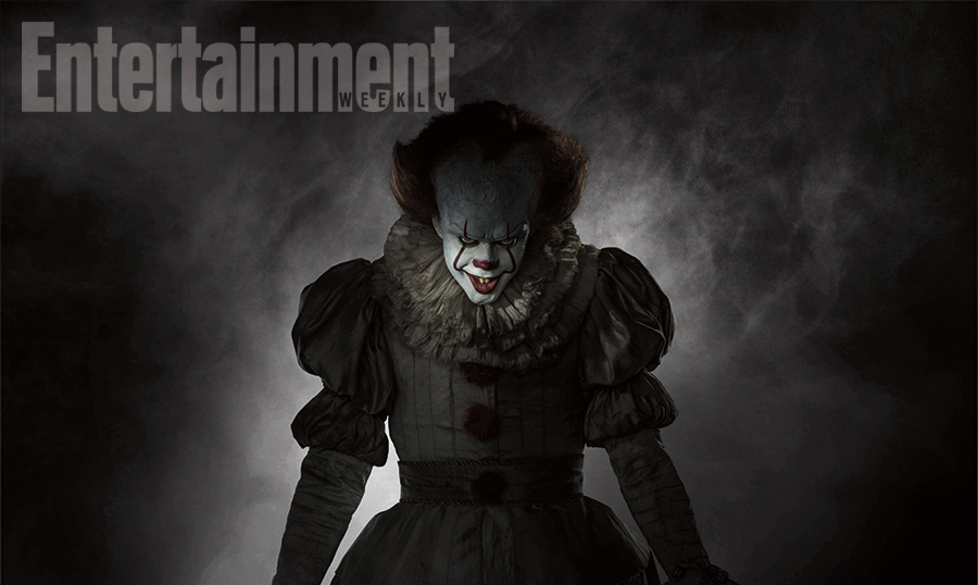 "New Look at Bill as ""Pennywise"""